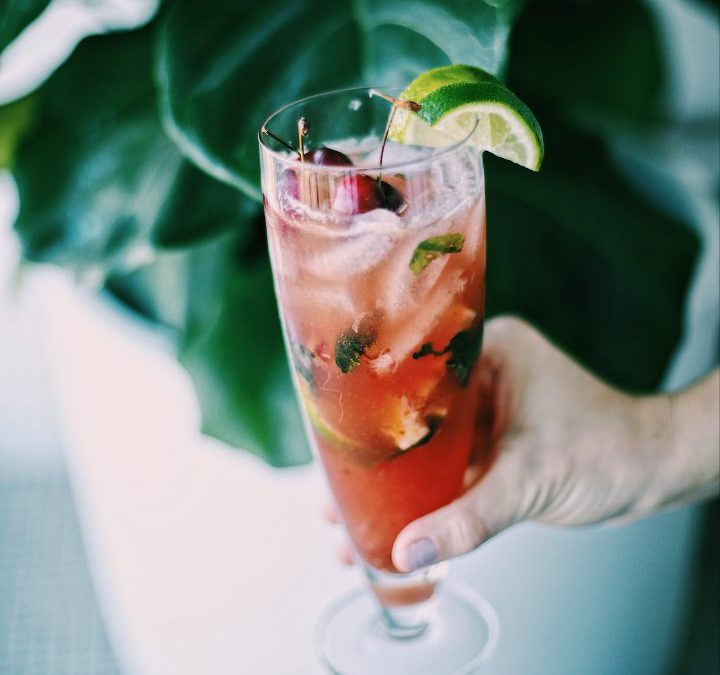 Homemade Cherry Mojito