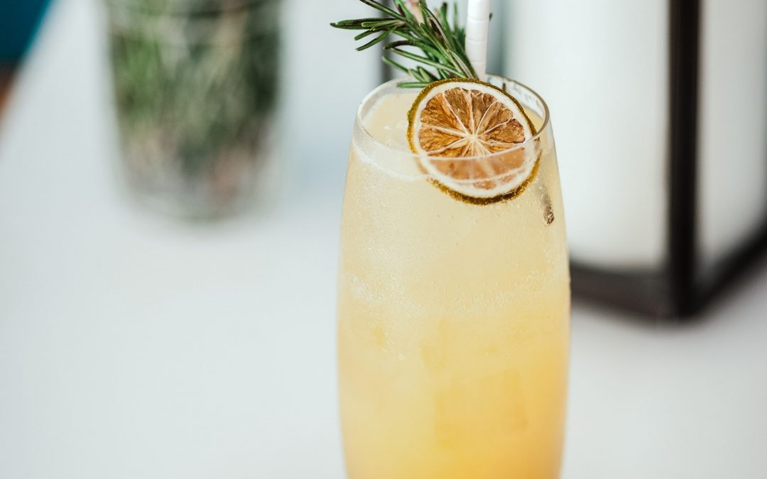 Whiskey Lemonade with Rosemary-Honey Syrup